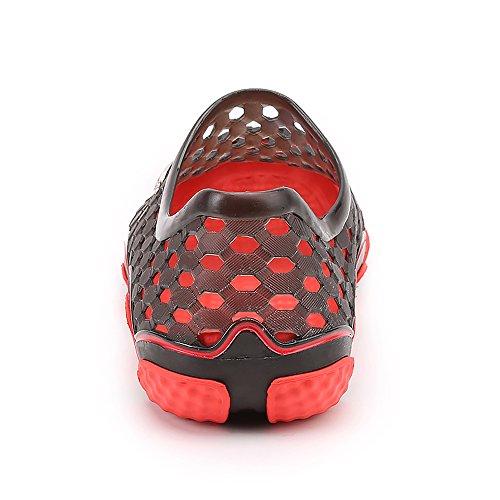 Enllerviid Uomo Quick Dry Water Shoes Slip On Sandali Da Spiaggia Garden Zoccoli Scarpe 2198 Nero
