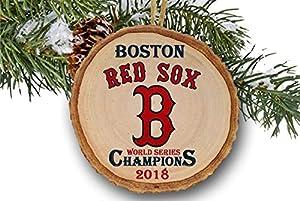 "Boston Red Sox World Series Champions 2018 Ornament, Boston Red Sox, Baseball, Wood Slice Ornament 3"""