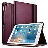 New iPad 9.7 2017/2018 Case, Icarercase Premium Leather Slim Folio Cover Auto Wake/Sleep,Pencil Holder Kickstand Function Apple iPad 9.7 5th/6th Gen (Purple)