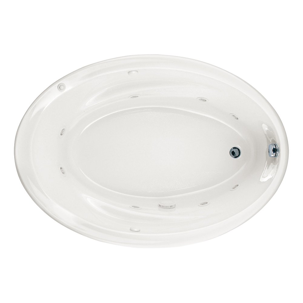 American Standard 2903018WC.020 Savona Oval Whirlpool Bath Tub with ...