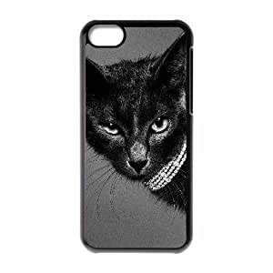 LIULAOSHI Lovely Cat Phone Case for iphone5c Black [Pattern-6] by runtopwell