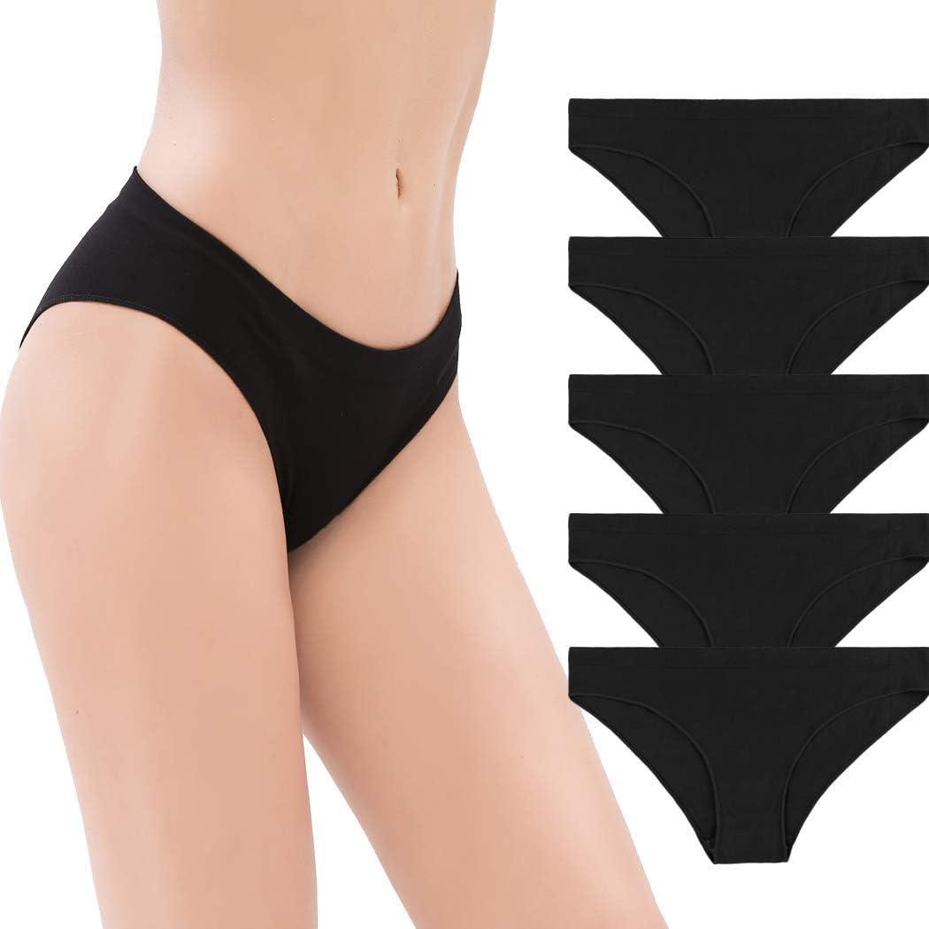 5 pack Mae Womens Seamless Cheekini Underwear Brand