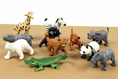 11x Zootiere Wildtiere Wildtierkinder Tierfiguren Miniblings Aufstellfiguren Zoo