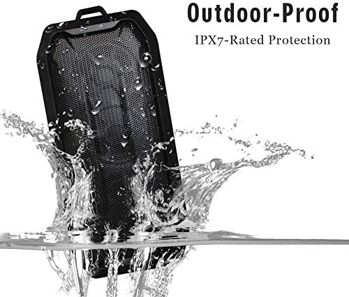 AOOK Portable Bluetooth Speaker, Perfect for Outdoor Activities and Sports and Cycling, Bigger bass and Sound, IPX-7 Splashproof Black