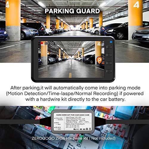 Zerogogo R1 Dash Cam FHD 1080P Car Driving Recorder with GPS, 3″ IPS