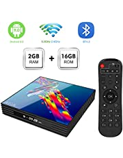 Android TV BOX,A95X R3 Android 9.0 TV BOX 2GB RAM/16GB ROM RK3318 Quad-Core Supporto 2.4Ghz/5.0Ghz WiFi 4K HDMI Bluetooth4.2 DLNA 3D Smart TV BOX