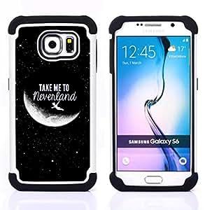 For Samsung Galaxy S6 G9200 - Take Me To Moon Sky Cosmos Love /[Hybrid 3 en 1 Impacto resistente a prueba de golpes de protecci????n] de silicona y pl????stico Def/ - Super Marley Shop -