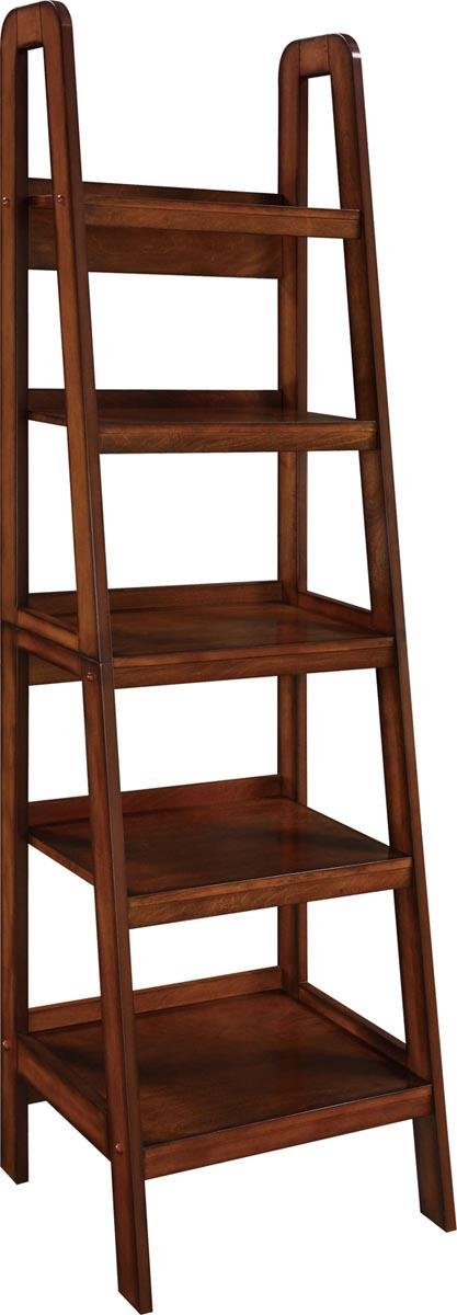 Altra Furniture Ameriwood Home Platform Wood Veneer Ladder Bookcase, Espresso