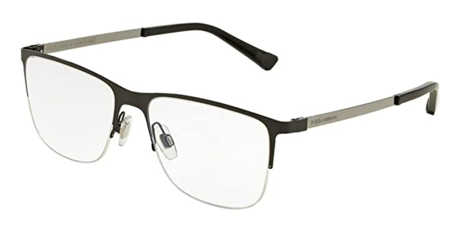 0579865f136 Amazon.com  DOLCE   GABBANA Eyeglasses DG 1283 01 Black 55MM  Clothing
