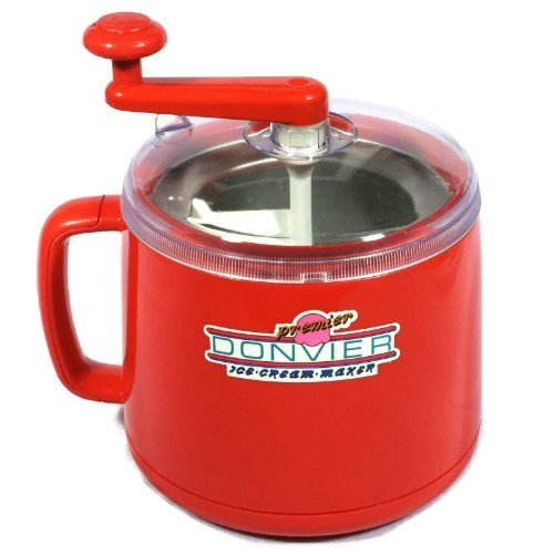 Donvier Premier Ice Cream Maker Red, 1 Quart