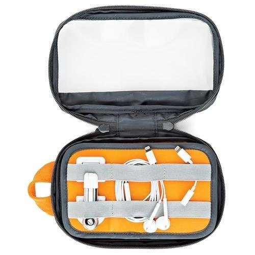 Lowepro GearUp Pouch Mini: A Compact Travel Organizer Pouch for Smartphone Cables, Adapters, Chargers, Batteries and More by Lowepro