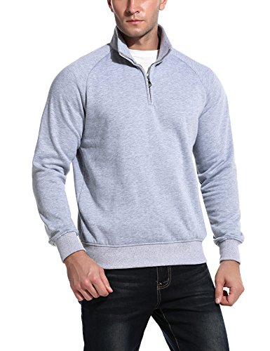 Quarter Zip Mens Sweatshirt - 9