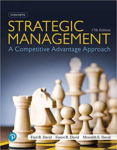 Strategic Management: A Competitive Advantage Approach, Concepts, 17th Edition