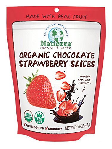 Nature's All Foods Organic Chocolate Covered Freeze Dried Fruit - Strawberry - 2.8 oz
