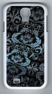 Floral Pattern Custom Samsung Galaxy I9500/Samsung Galaxy S4 Case Cover Polycarbonate White
