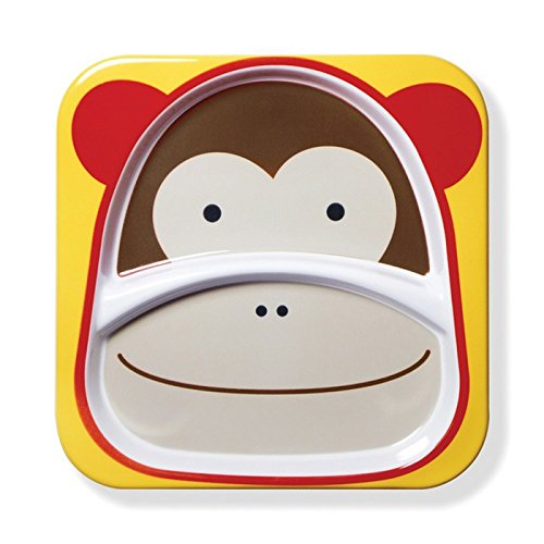 - Skip Hop Baby Zoo Little Kid and Toddler Melamine Feeding Divided Plate, Multi Marshall Monkey