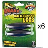 ROCKYMART (6 packs) - Large 2.5'' Rattle Snake Eggs Rattlesnake Singing Magnets