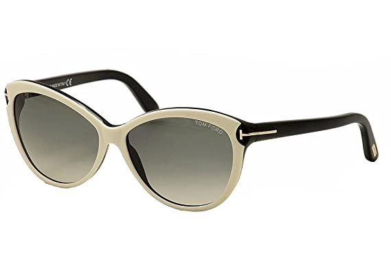 c7efdb9f73f9 Tom Ford 0325 S 25B White Telma Cats Eyes Sunglasses Lens Category 2 Size  60mm