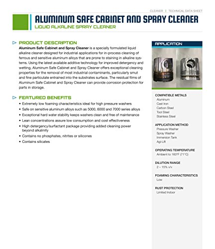Kynetx Alum Safe Cabinet & Spray - 5-Gal Pail, 4103000000-KN5006, Spray Cleaner, Aluminum, Cast Iron, Carbon Steel, Tool Steel, Stainless Steel Cleaner, Low Foaming, Heavy Duty Cleaners by Kynetx (Image #3)