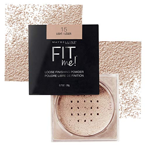 Maybelline Fit Me Loose Finishing Powder, Light, 0.7 oz. (Best Drugstore Compact Powder For Oily Skin)