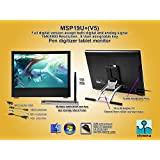 Yiynova MSP19U+V5 Tablet Monitor, 2 Pen Kits, DVII Input, Analog/Digital Dual Engine (Mac & Windows & Linux)
