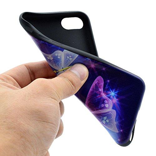 "HYAIT® For IPHONE 7 PLUS 5.5"" [XXG BLACK V1]Scratch-Proof Ultra Thin Rubber Gel TPU Soft Silicone Bumper Case Cover -BKI03"