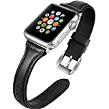 Best Shopping For Apple Watch Bands Leather Women 38mm 40mm Replacement Iwatch Accessories Sport Wristband Compatible With Iwatch Apple Series 4321 Sport Nike Black Brown White Pink Red Black 38mm40mm