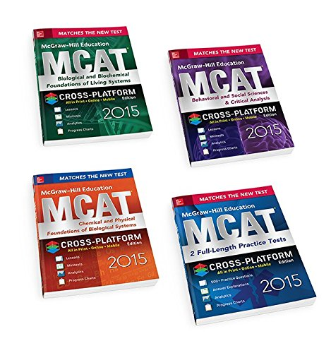 McGraw-Hill Education MCAT 2015 4-Book Value Pack, Cross-Platform Edition (Mcgraw-hill Education Mcat Preparation)