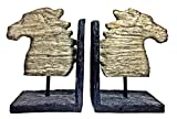 Pair of Horse Bookends Outstanding Book ends, Powerful Symbol of Victory