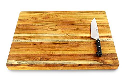 Terra Teak Cutting Board - Extra Large Wood Board 24 x 18 x 1.5 Inch by Thirteen Chefs (Image #1)