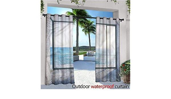 warmfamily Whale Outdoor- Cortina de privacidad para Exteriores, con diseño de Ballena Cerca de la Isla de Palm para el Porche Frontal, Cubierta de Patio, cenador, calcetín de Playa, casa: Amazon.es: Jardín