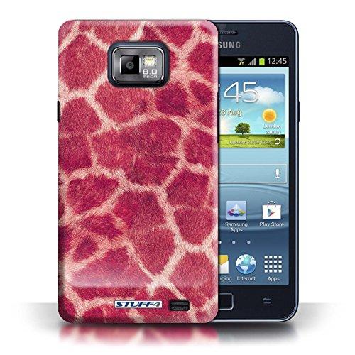 Etui / Coque pour Samsung Galaxy S2/SII / Rose conception / Collection de Girafe animale Peau/Motif