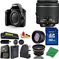 Great Value Bundle for D3300 DSLR – 18-55mm AF-P + 32GB Memory + Wide Angle + Telephoto Lens + Backpack