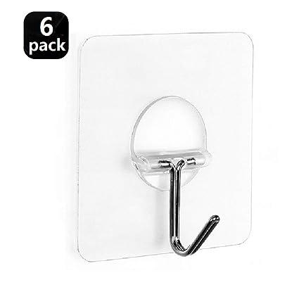 Beautiful 5 Pc Adhesive Strong Transparent Wall Hooks Kitchen Bathroom Towel Hanging Hooks Invisible Holder Glass Ceramic Hangers Stick Bathroom Storage & Organization