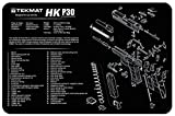 revolver parts - Ultimate Arms Gear Gunsmith & Armorer's Cleaning Work Tool Bench Gun Mat For Heckler & Koch HK P30 P 30 Pistol Handgun - Large Exploded View Schematics Diagram of Revolver and Parts List