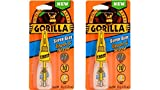 Gorilla Super Glue Brush & Nozzle, 10 g, Clear, (2 Pack)