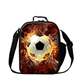 Generic Soccer Lunch Bags Pattern Tenies Ball School - Best Reviews Guide