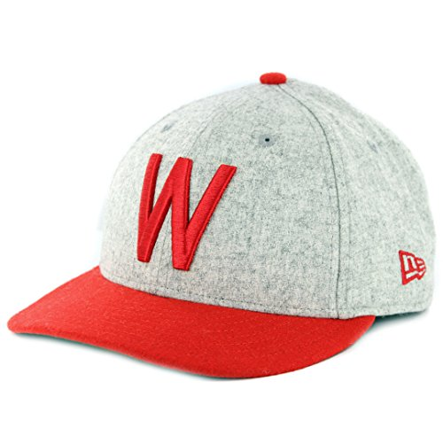(New Era Washington Senators 9FIFTY MLB Cooperstown Melton Wool Snapback Hat)
