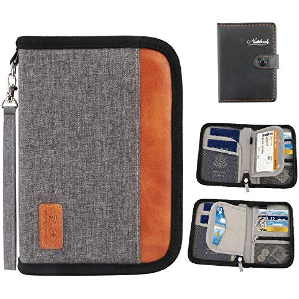 29c106d37ebf Details about Travel Wallet, RFID Blocking Family Passport Holder For Women  And Men Zipper -
