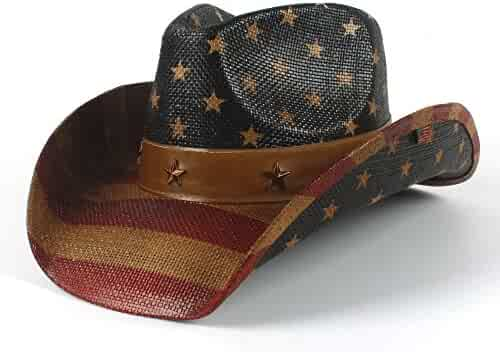 b3606373 CP & YR 2018 New American Flag Cowboy Hat for Women and Men Sun hat Jazz