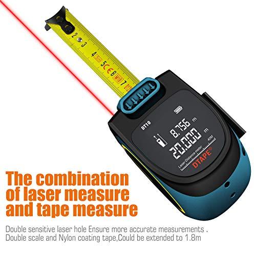 Medidor De Distancia Laser Digital Medidor Laser Recargable Hanmer Medidor De Alcance Digital Portatil Cinta Metrica Laser