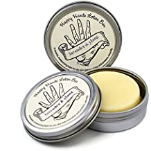 Lavender & Ylang Ylang Happy Hands Natural Beeswax & Shea Butter Solid Lotion Bar Pair. Keeps Skin Moisturized & Protected, Great Idea for Women & Men, Compact & Concentrated