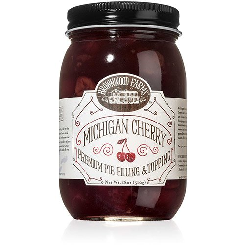Brownwood Farms Michigan Cherry Premium Pie Filling & Topping (18 ounce)
