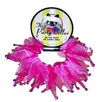 Charming Party Collar, Multi Pink Rhinestone, Large, My Pet Supplies