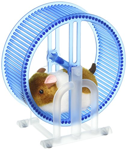 - Velocity Toys Happy Hamster Spinning Exercise Wheel Children's Kid's Electronic Toy Pet Playset w/ Hamster, Wheel, Stand (Colors May Vary)