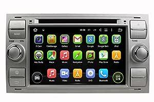 (Plateado) 7 pulgadas 2 Din Coche Radio Android 5.1