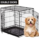"ToysOpoly Flash Sale | Premium 24"" Metal Dog Crate, Double-Door Folding Pet Playpen 