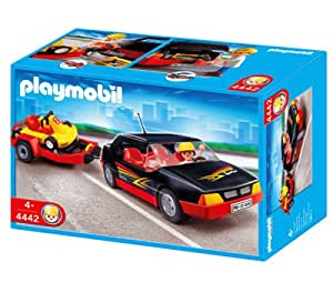 playmobil car with go cart toys games. Black Bedroom Furniture Sets. Home Design Ideas