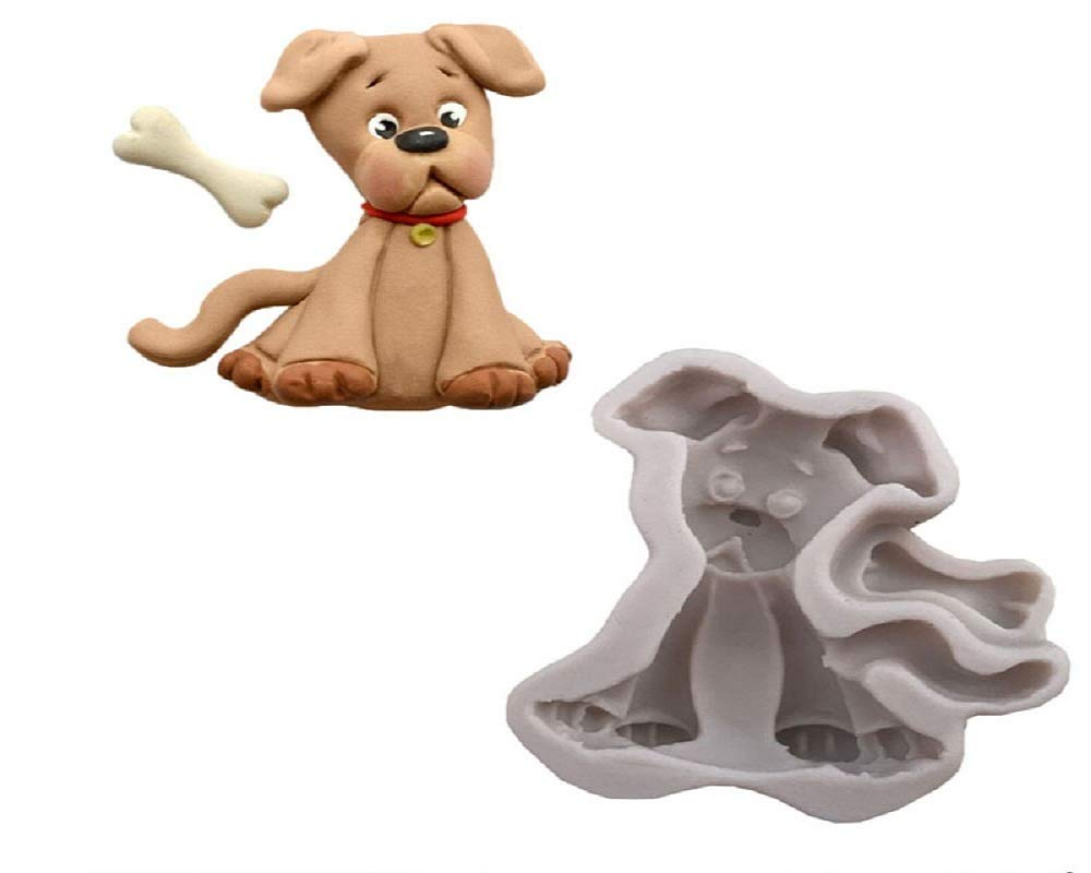 Joinor Cat Dog Shape Silicone Mold For Polymer Clay Candy Chocolate Moulds Baby Birthday Party Fondant Cake Decorating Tools