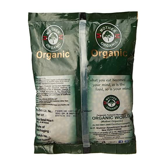Mother Organic Soyabeen Whole, 500g (Pack of 2)